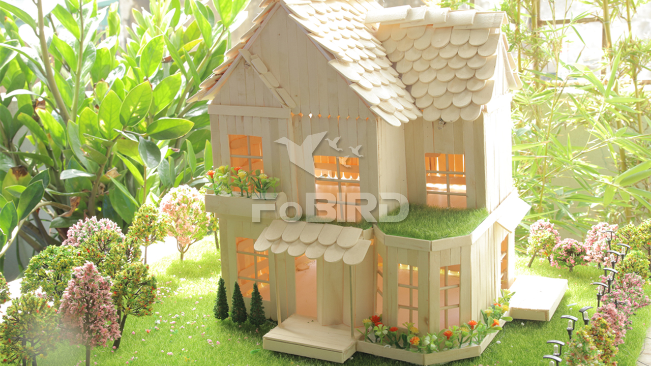 How to make a Popsicle Stick House or Ice cream Sitck House