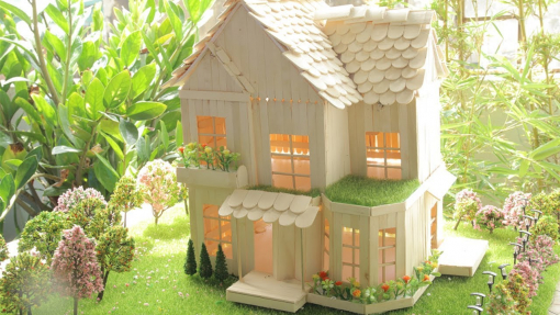 How to make a popsicle stick house