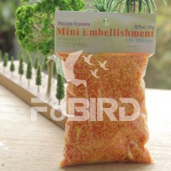 Orange artificial grass powder