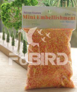 Orange artificial grass powder