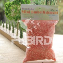 Pink artificial grass powder