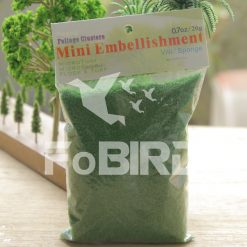 Blue artificial grass powder