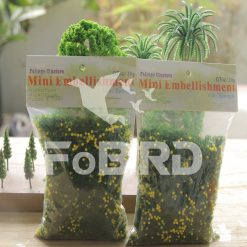 Yellow-green artificial grass powder