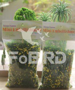 Yellow-green artificial grass powder