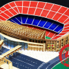 The Camp Nou stadium of Barca model