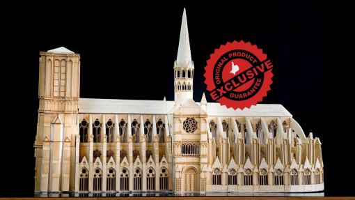The Notre Dame Cathedral of Paris model
