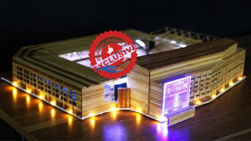 The Goodison Park stadium of Everton FC model