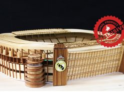 The Santiago Bernabeu stadium of Real madrid CF model