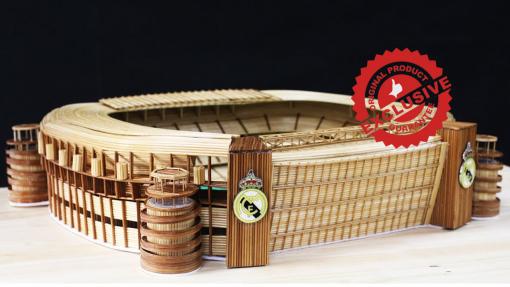 The Santiago Bernabeu stadium of Real madrid CF model
