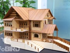 DIY Miniature Modern Mansion house with funitures
